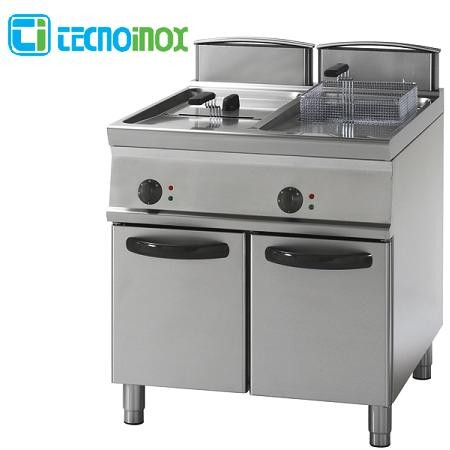 Elektro-Fritteuse Tecnoinox 2x17 Liter FR87FE7 Doppelbecken-Gastronomie-Friteuse