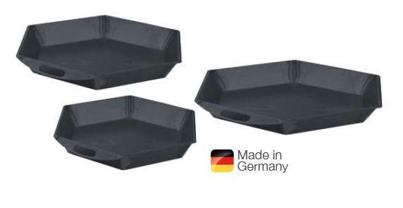 6-Eck-Pfanne mit Ø 68 cm für Dreifachkochplatte 3 x 18 cm