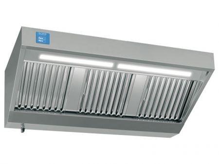 Wandhaube, 1600x700mm, mit eingebautem Motor, Regler und Licht, 1.400m³/h, 230V