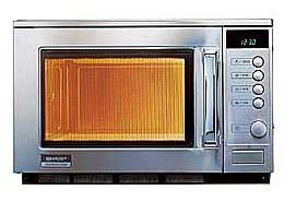 Gastronomie Edelstahl Mikrowelle Sharp 20 ltr, R-22 AM, 1500W