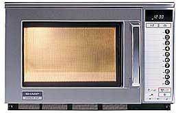 Gastronomie Edelstahl Mikrowelle Sharp 20 ltr, R-25 AT, 2100W