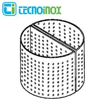Tecnoinox Korb für 50 Liter Kochkessel Lochdurchmesser 3 mm