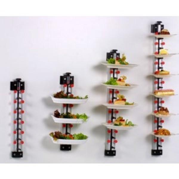Tellerstapler Wandmodell 12 Teller PLATE MATE Tellerstapelsystem für die Gastronomie