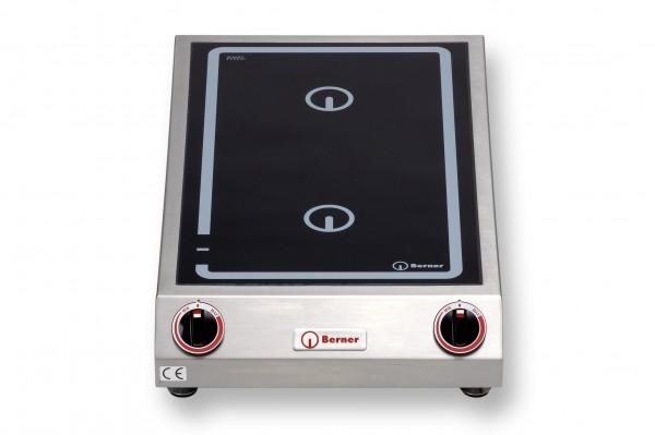 Berner BI2K10 Tisch-Induktionsdoppelkochplatte