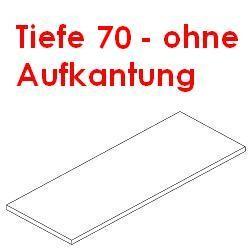 Arbeitsplatte Tiefe 70 cm ohne Aufkantung 1,0 mm Edelstahl