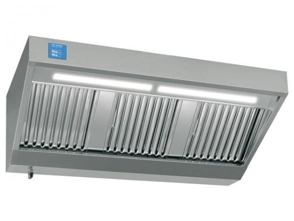 Wandhaube, 2400x700mm, mit eingebautem Motor, Regler und Licht, 1.800m³/h, 230V