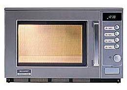 Gastronomie Edelstahl Mikrowelle Sharp 20 ltr, R-25 AM, 2100W