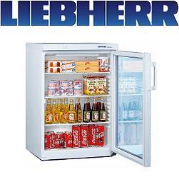 Liebherr FKS 1802 Glastür-Kühlschrank weiss statische Kühlung