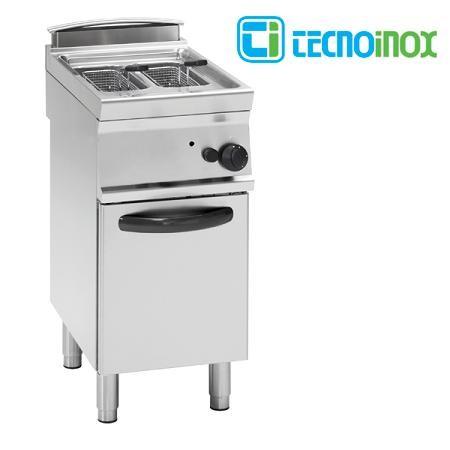 Gas-Fritteuse Tecnoinox 2x8 Liter FR48FG7 Doppelbecken-Gastronomie-Friteuse