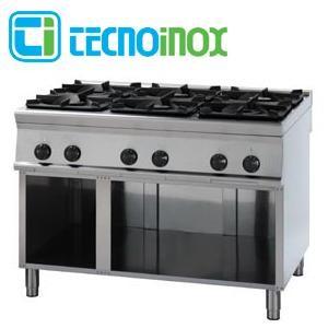 Gaskochfeld 6-flammig 40 kW Tecnoinox PCG12FG9 - Gastronomie-Gaskochfläche