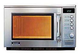 Gastronomie Edelstahl Mikrowelle Sharp 20 ltr, R-23 AM, 1800W