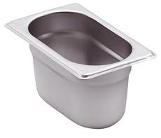 GN-Behälter Edelstahl 1/9 6,5 cm, 0,6 Liter