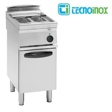 Elektro-Fritteuse Tecnoinox 2x8 Liter FR48FE7 Doppelbecken-Gastronomie-Friteuse