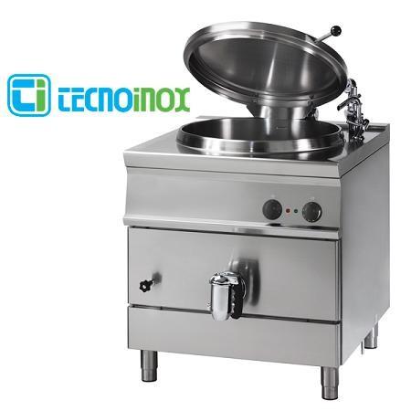 Gas-Kochkessel Tecnoinox 100 Liter P81FIG9 Gastronomie-Schnellkochkessel