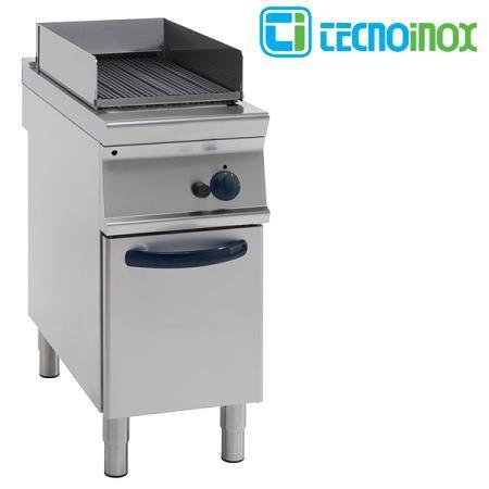 Gas-Vaporgrill Tecnoinox GD4FG9 mit 1 Heizzone / Gastronomie-Dampfgrill Serie Profi 900