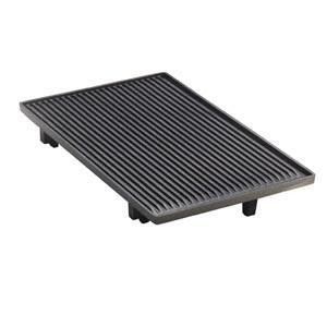 Tecnoinox Grillplatten-Aufsatz, gerillt, Einzelrost für Gasherde Serie 700, 280x320mm