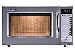 Gastronomie Edelstahl Mikrowelle Sharp 28 ltr, R-15 AT, 1000W