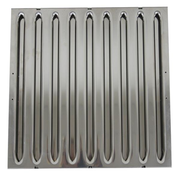 Hochwiderstands-Flammschutzfilter aus Edelstahl, 400x400x40mm, Typ A