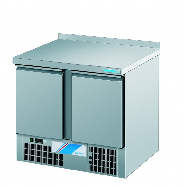 CHROMOfair / CHROMOnorm Kühltisch, 2 Türen, Voll-Edelstahl für die Gastronomie