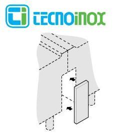 Tecnoinox Verbindungspaneel, 1 M für Inselaufstellung der Profi 900 Serie