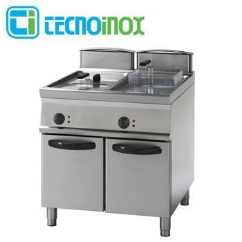 Gas-Fritteuse Tecnoinox 2x17 Liter 32 kW FRV87FG9 Gastronomie-Friteuse Profi 900