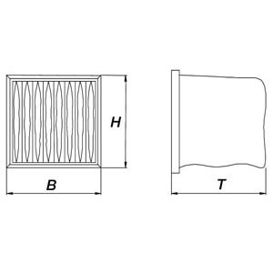 Taschenfilter für Gastro-Abluftreinigungsanlagen