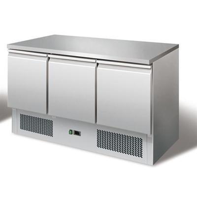 Gastrostellwerk Kühltisch Ecoline II, Edelstahl, Umluft für die Gastronomie