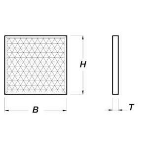 Synthetik-Filter, 400x400mm für Gastro-Abluftreinigungsanlagen