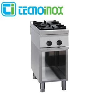 Gaskochfeld 2-flammig 14,5 kW Tecnoinox PCG4FG9 - Gastronomie-Gaskochfläche