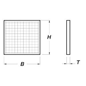Edelstahl-Netzfilter, 590x590mm für Gastro-Abluftreinigungsanlagen