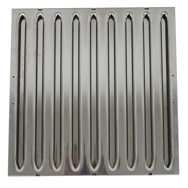 Hochwiderstands-Flammschutzfilter aus Edelstahl, 500x500x20mm, Typ B