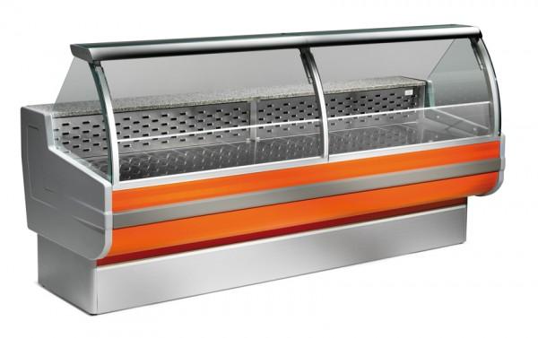 Freikühltheke Cordoba 250 / Kühlvitrine mit statischer Kühlung
