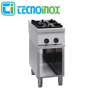 Gaskochfeld 2-flammig 18 kW Tecnoinox PCG4FSG9 - Gastronomie-Gaskochfläche