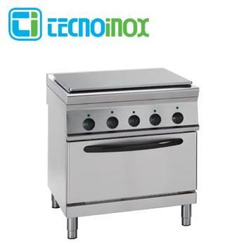 Elektro-Glühplattenherd 19,3 kW Tecnoinox PPF8FE9 - Gastronomie-Fortkochplatte mit Backofen GN 2/1